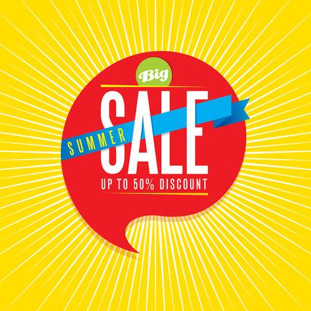 fl: summer sale design template Illustration