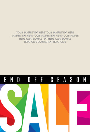 sale shopping background and label for business promotion