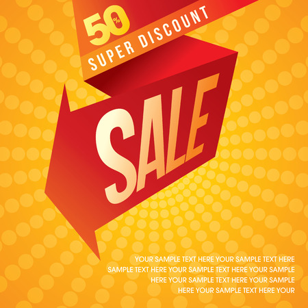 big: sale shopping background and label for business promotion