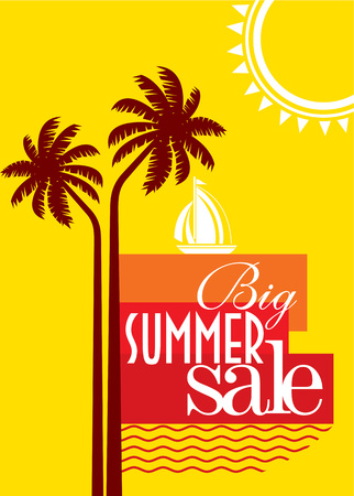 summer season: sale shopping background and label for business promotion