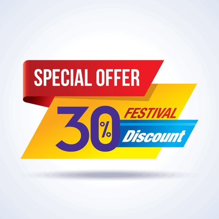 discount banner: sale shopping background and label for business promotion