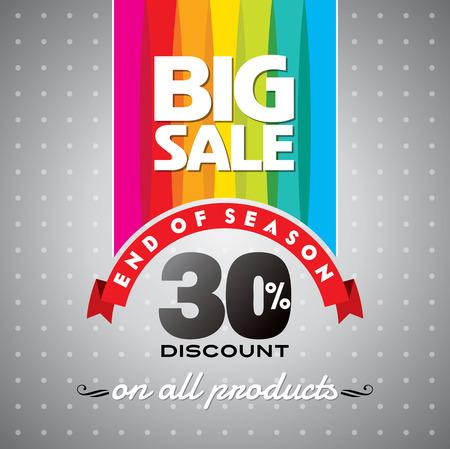 celebração: Venda fundo de compras e uma etiqueta para a promoção de negócios Ilustração