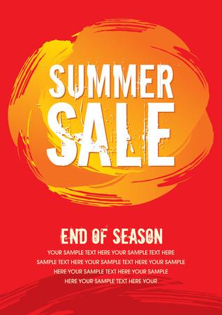 ropa de verano: Fondo de la venta de compras y una etiqueta para la promoci�n de negocios Vectores