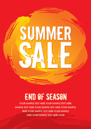 summer sale: sale shopping background and label for business promotion