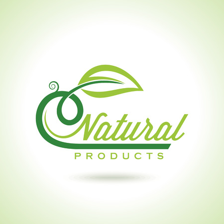 유기농 에코 재활용 녹색 아이콘 및 레이블