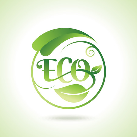 earth logo: Organic Eco Recycle Green Icons and Labels