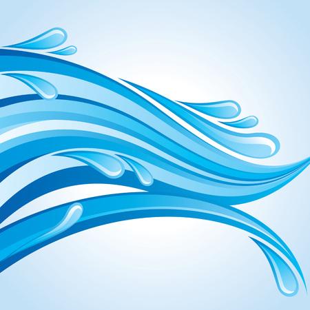Water frame. vector illustration