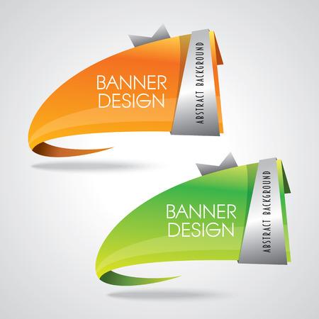 カラフルなバナー デザイン ベクトル図