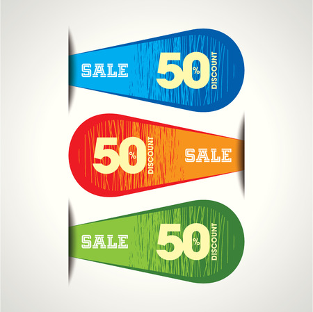 trade off: Sale shopping background and label for business promotion Illustration