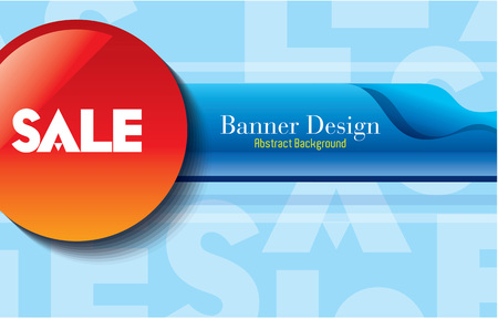 Sale shopping background and label for business promotion Çizim