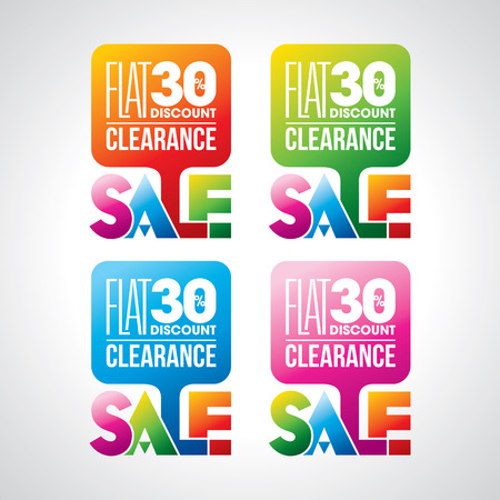 Sale shopping background and label for business promotion Vectores