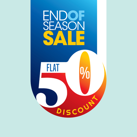 end of summer: sale shopping background and label for business promotion