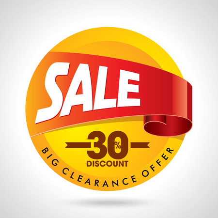 sale tags: sale shopping background and label for business promotion