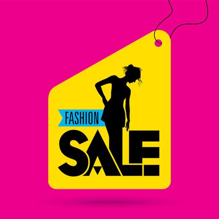 fashion: Verkauf Einkaufs Hintergrund und Label für Wirtschaftsförderung