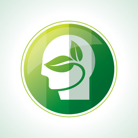 green leaves: Ecology icons with green leaves in vector