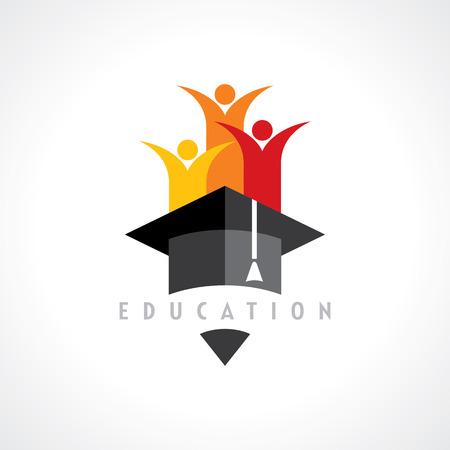 graduacion: Niños felices Concepto de la educación vector Vectores