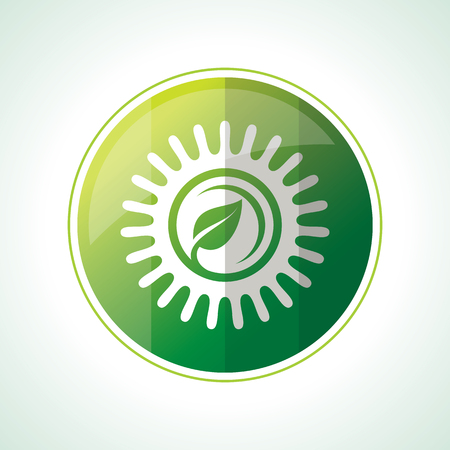 save planet: Ecology icons with green leaves in vector