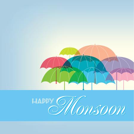 winter fun: background for Happy Monsoon Season.
