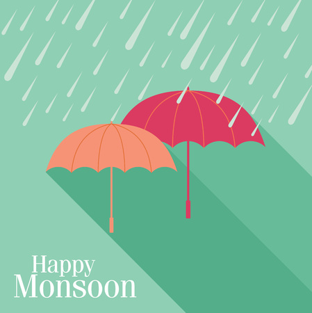 background for Happy Monsoon Season.