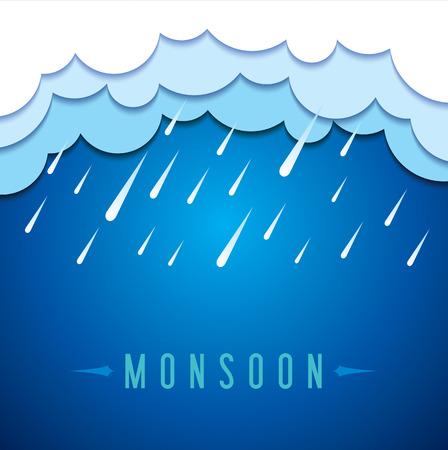 Fond pour Happy Monsoon Season. Banque d'images - 41621311