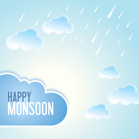 monsoon clouds: background for Happy Monsoon Season.