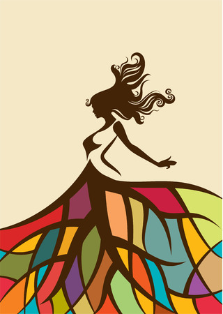 danseuse orientale: Image vectorielle femmes de la mode Illustration illustration