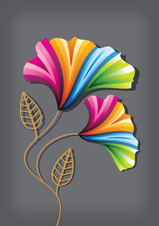 art vector: Flower background with flowers. Card Design
