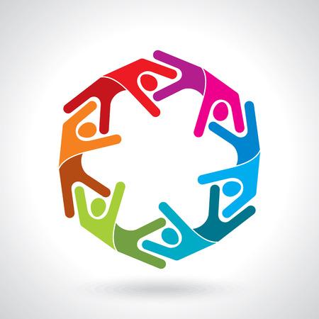 Teamwork Groep Mensen Stock Illustratie