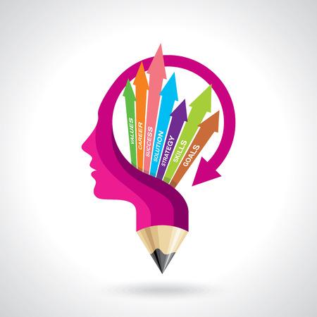 moving: Illustration vector of business mind