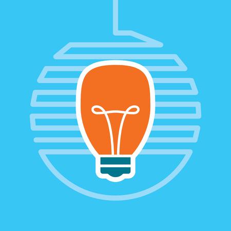 pensamiento creativo: Idea bombilla vector
