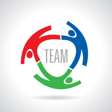 comunidad: Concepto de redes communityworkersunitysocial plantilla de imagen de icono. Trabajo en equipo vector Vectores