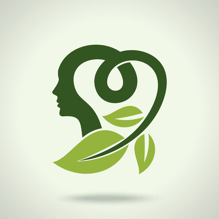 human brain: Vector Illustration think green save earth