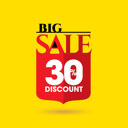 clear out: Sale design template vector