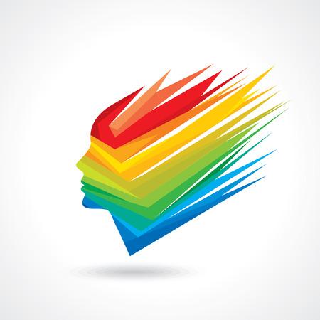 preferencia: Los pensamientos y las opciones. ilustraci�n vectorial de colorido cabeza