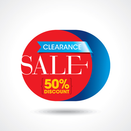 label design: Sale design template vector