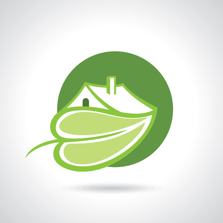 tree house: Eco house concept green leaf icon