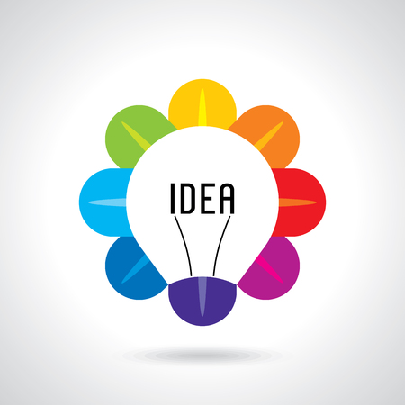 create idea: multicolor business idea vector Illustration