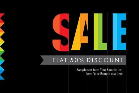 sticker vector: Sale design template vector