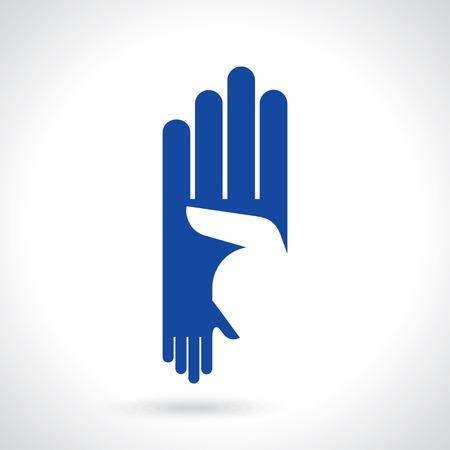 alliance: creative hand icon, a teamwork concept
