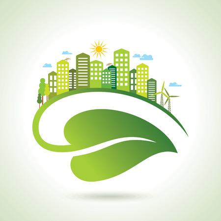 Ilustración del concepto de la ecología - salvar la naturaleza Foto de archivo - 42932155