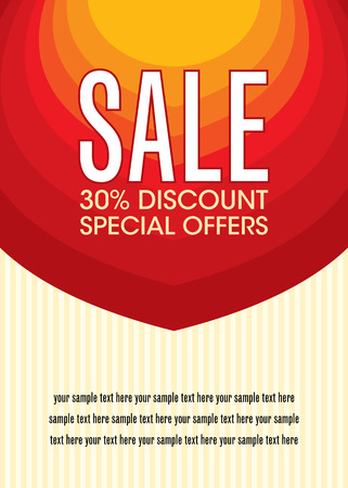 prices: Sale design template vector