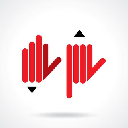 concept: ręka z ołówkiem. idea edukacji Ilustracja