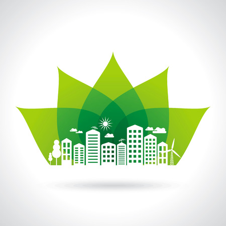 pannel: Illustration of ecology concept - save nature Illustration
