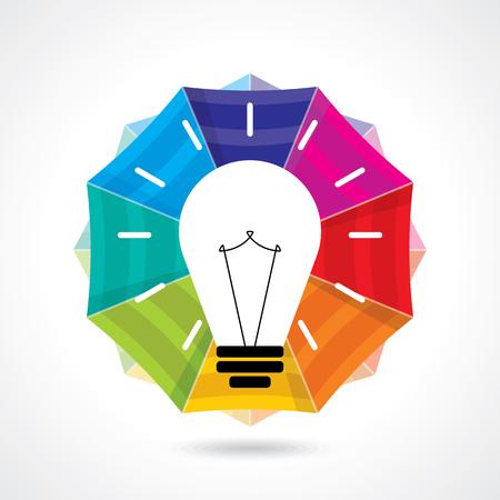 vibrant paintbrush: multicolor business idea vector Illustration
