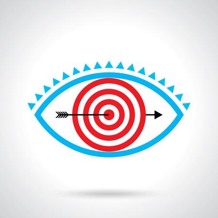 creative target: target eye, creative concept