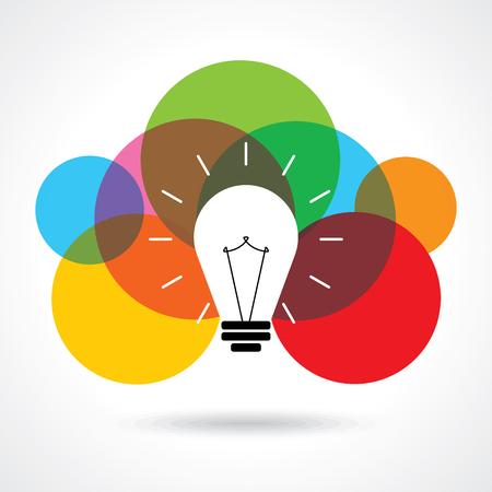 creativity: multicolor business idea vector Illustration