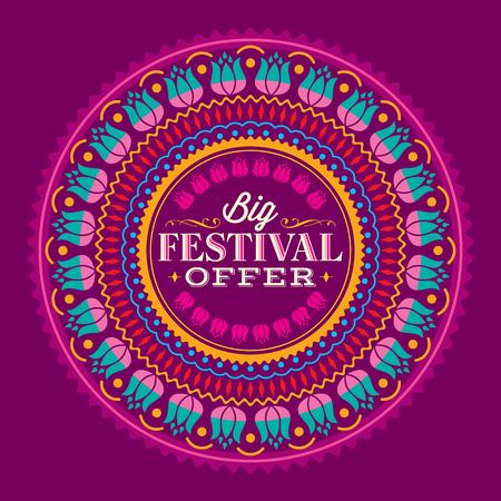 festival: Vector design for Deepawali festival.