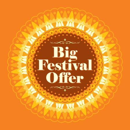 Vector ontwerp voor Deepawali festival.