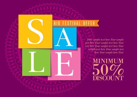 promotional offer: sale shopping background and label for business promotion