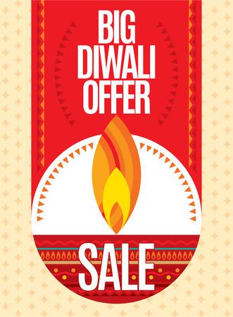 candil: Dise�o del vector para el festival de Deepawali. Vectores